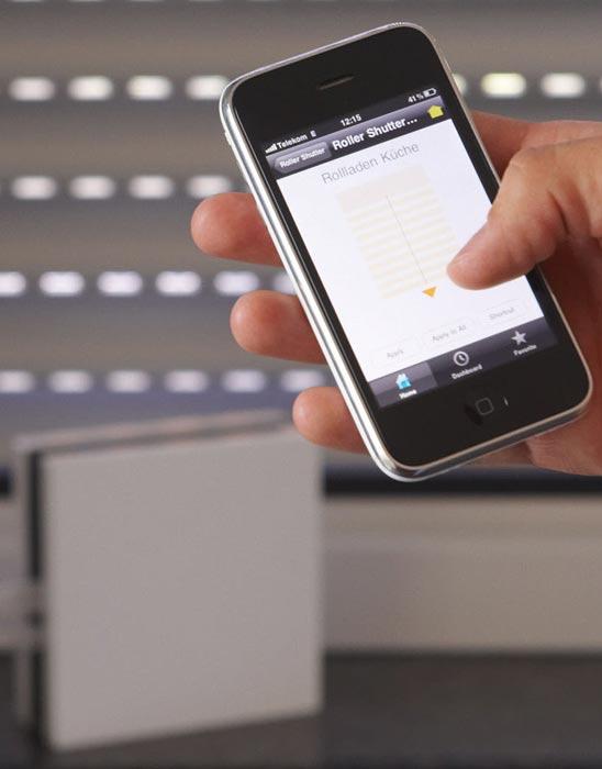 Somfy TaHoma-Box mit iPhone