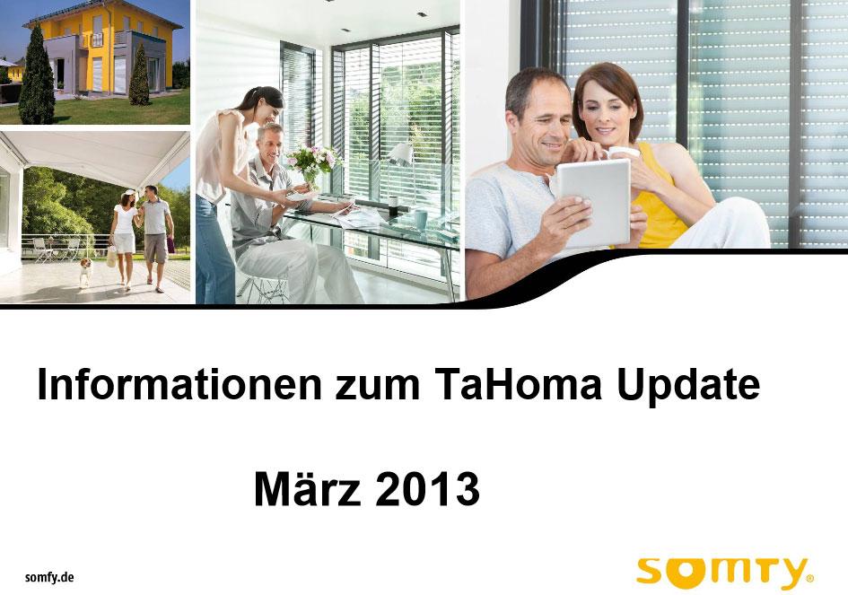 Somfy TaHoma Update März 2013