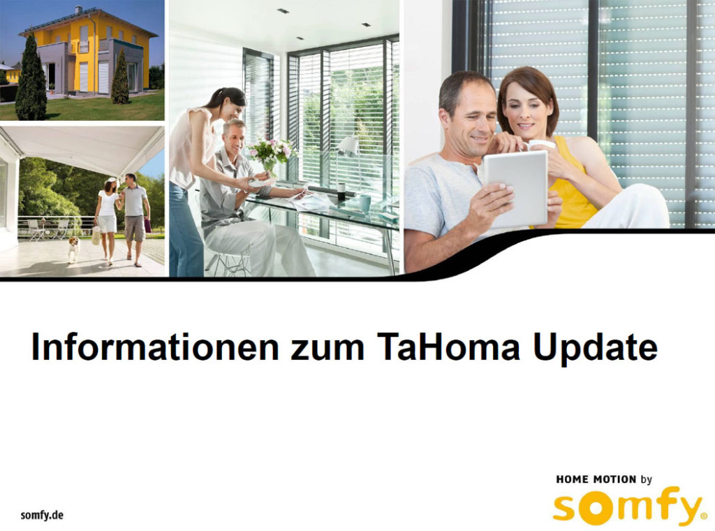 Somfy Tahoma Update